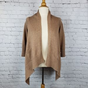 Gap Drapped Open Front Cashmere 1/2 Cardi …